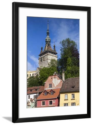 Romania, Transylvania, Sighisoara, Clock Tower, Built in 1280, Morning-Walter Bibikow-Framed Art Print