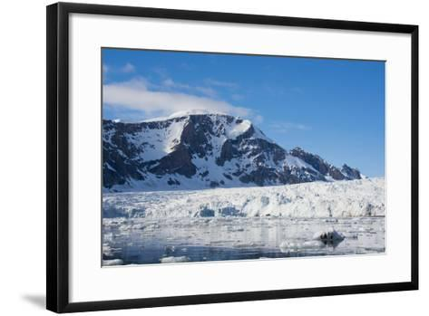 Norway. Svalbard. Hornsund. Burgerbutka. Paier Glacier-Inger Hogstrom-Framed Art Print