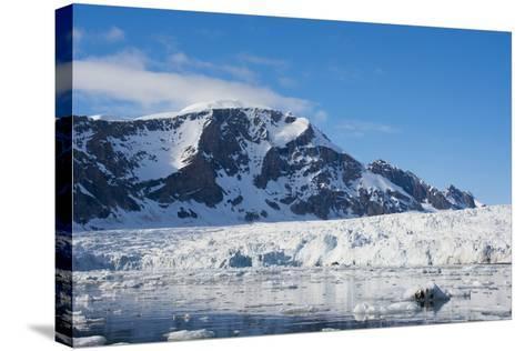 Norway. Svalbard. Hornsund. Burgerbutka. Paier Glacier-Inger Hogstrom-Stretched Canvas Print