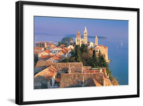 Cityscape at Sunset, Rab Island, Croatia-Peter Adams-Framed Art Print