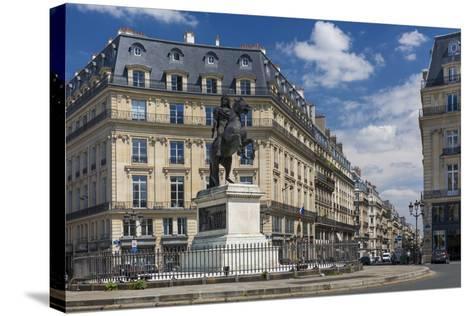 Louis Xiv Statue at Place Des Victoires, Paris, France-Brian Jannsen-Stretched Canvas Print