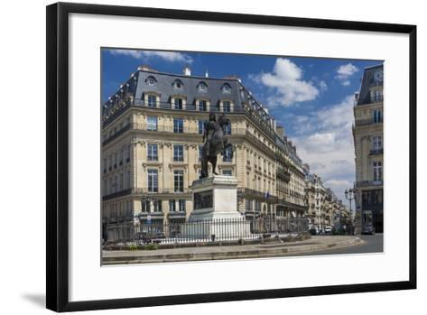 Louis Xiv Statue at Place Des Victoires, Paris, France-Brian Jannsen-Framed Art Print
