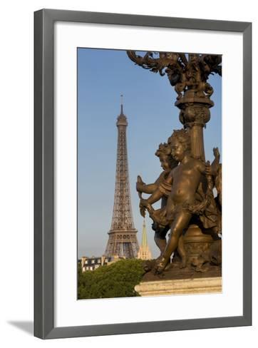 Pont Alexndre III with Eiffel Tower, Paris, France-Brian Jannsen-Framed Art Print
