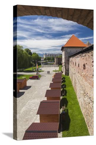 Romania, Transylvania, Fagaras, Fagaras Citadel, Exterior View-Walter Bibikow-Stretched Canvas Print