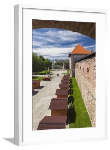 Romania, Transylvania, Fagaras, Fagaras Citadel, Exterior View-Walter Bibikow-Framed Art Print
