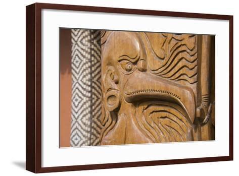 Solomon Islands, Guadalcanal Island. Cultural Center, Wood Carving-Cindy Miller Hopkins-Framed Art Print