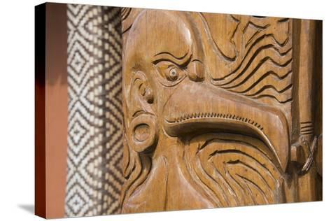 Solomon Islands, Guadalcanal Island. Cultural Center, Wood Carving-Cindy Miller Hopkins-Stretched Canvas Print