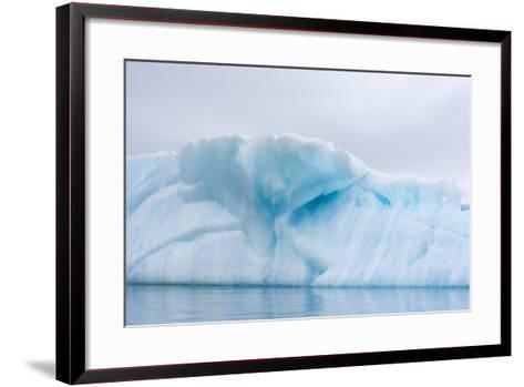 Norway. Svalbard. Brasvelbreen. Turquoise Ice Bergs in the Calm Water-Inger Hogstrom-Framed Art Print