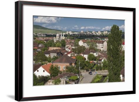 Romania, Transylvania, Hunedoara, Elevated View from Corvin Castle-Walter Bibikow-Framed Art Print