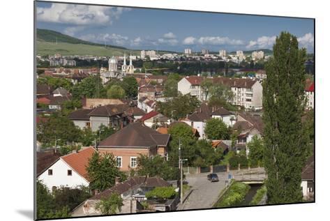 Romania, Transylvania, Hunedoara, Elevated View from Corvin Castle-Walter Bibikow-Mounted Photographic Print