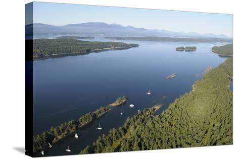 Canada, B.C., Wallace Island. Princess Bay, Wallace Island Marine Pp-Kevin Oke-Stretched Canvas Print