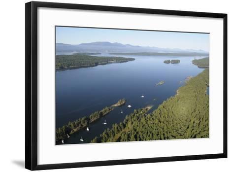 Canada, B.C., Wallace Island. Princess Bay, Wallace Island Marine Pp-Kevin Oke-Framed Art Print