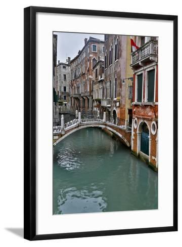 Venice, Italy. Canal with Arched Bridge-Darrell Gulin-Framed Art Print