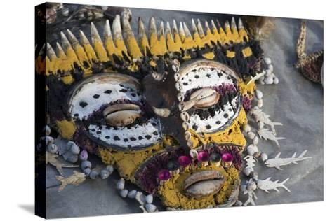 Papua New Guinea, Village of Kopar. Folk Art Souvenir Mask-Cindy Miller Hopkins-Stretched Canvas Print