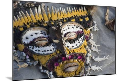 Papua New Guinea, Village of Kopar. Folk Art Souvenir Mask-Cindy Miller Hopkins-Mounted Photographic Print