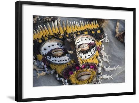 Papua New Guinea, Village of Kopar. Folk Art Souvenir Mask-Cindy Miller Hopkins-Framed Art Print