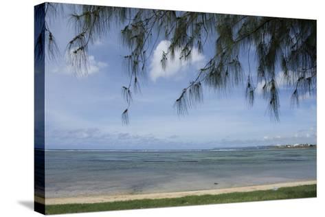 Micronesia, Mariana Islands, Guam, Hagatna. Philippine Sea and Beach-Cindy Miller Hopkins-Stretched Canvas Print