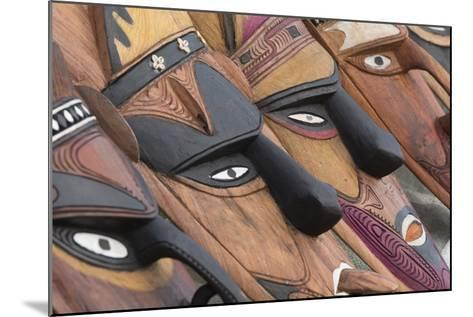 Papua New Guinea, Murik Lakes, Karau Village. Traditional Carved Masks-Cindy Miller Hopkins-Mounted Photographic Print
