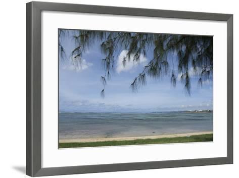 Micronesia, Mariana Islands, Guam, Hagatna. Philippine Sea and Beach-Cindy Miller Hopkins-Framed Art Print