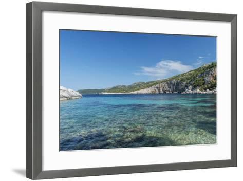 Croatia, Dalmatia, Hvar Island, Secluded Cove Near Milna-Rob Tilley-Framed Art Print