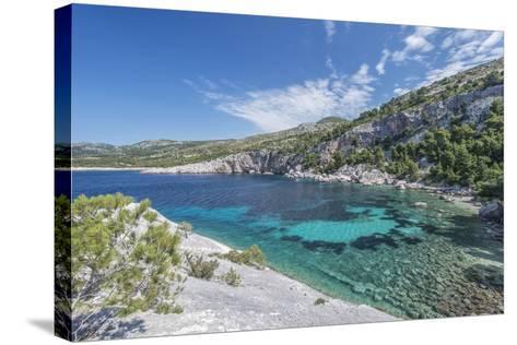 Croatia, Dalmatia, Hvar Island, Secluded Cove Near Milna-Rob Tilley-Stretched Canvas Print
