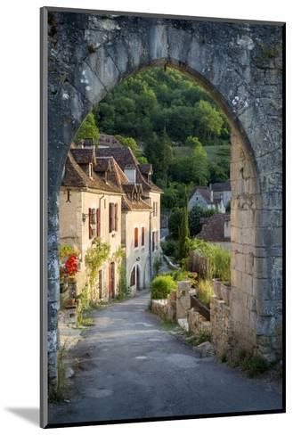 Sunset at Old Entry Gate to Saint-Cirq-Lapopie, Lot Valley, France-Brian Jannsen-Mounted Photographic Print