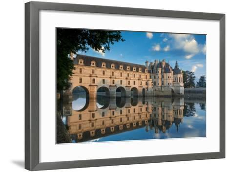 Morning on Chateau Chenonceau, Indre-Et-Loire, Centre, France-Brian Jannsen-Framed Art Print