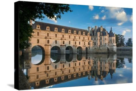 Morning on Chateau Chenonceau, Indre-Et-Loire, Centre, France-Brian Jannsen-Stretched Canvas Print