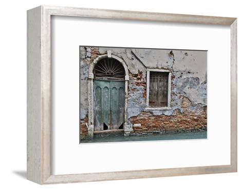 Green Doorway, Venice, Italy-Darrell Gulin-Framed Art Print
