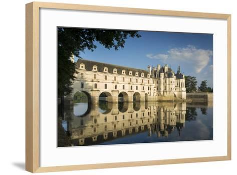 Early Morning at Chateau Chenonceau, Indre-Et-Loire, Centre, France-Brian Jannsen-Framed Art Print