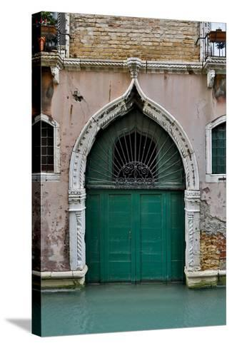 Green Doorway, Venice, Italy-Darrell Gulin-Stretched Canvas Print