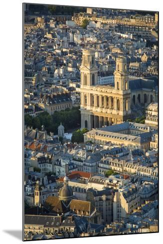 Overhead View of Eglise Saint Sulpice, Paris, France-Brian Jannsen-Mounted Photographic Print