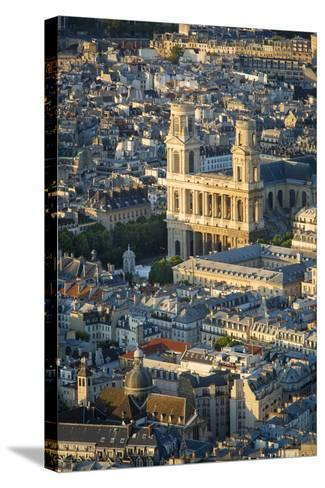 Overhead View of Eglise Saint Sulpice, Paris, France-Brian Jannsen-Stretched Canvas Print