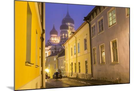 Alexander Nevsky Church in the Old Town at Dusk, Tallinn, Estonia-Peter Adams-Mounted Photographic Print