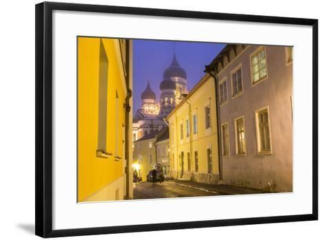 Alexander Nevsky Church in the Old Town at Dusk, Tallinn, Estonia-Peter Adams-Framed Art Print