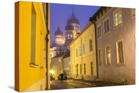 Alexander Nevsky Church in the Old Town at Dusk, Tallinn, Estonia-Peter Adams-Stretched Canvas Print