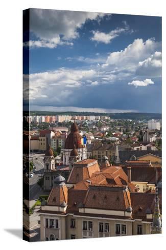 Romania, Transylvania, Targu Mures, the Greco-Catholic Cathedral-Walter Bibikow-Stretched Canvas Print