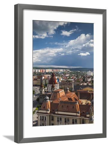 Romania, Transylvania, Targu Mures, the Greco-Catholic Cathedral-Walter Bibikow-Framed Art Print
