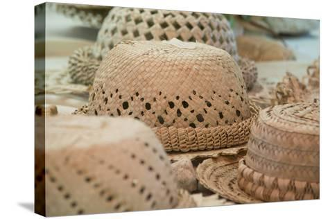 French Polynesia, Island of Rurutu. Traditional Woven Hats-Cindy Miller Hopkins-Stretched Canvas Print