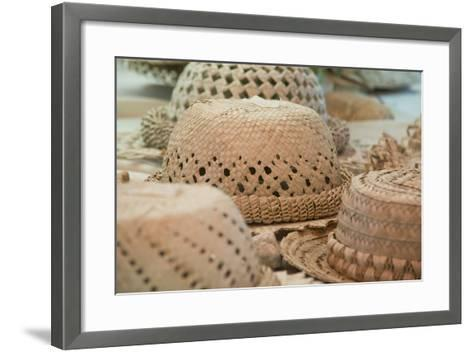 French Polynesia, Island of Rurutu. Traditional Woven Hats-Cindy Miller Hopkins-Framed Art Print