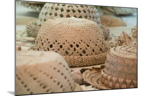 French Polynesia, Island of Rurutu. Traditional Woven Hats-Cindy Miller Hopkins-Mounted Photographic Print