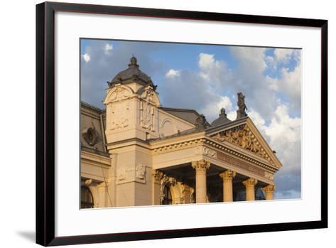 Romania, Moldavia, Iasi, Vasile Alecsandri National Theater at Sunset-Walter Bibikow-Framed Art Print