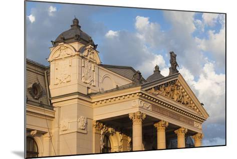 Romania, Moldavia, Iasi, Vasile Alecsandri National Theater at Sunset-Walter Bibikow-Mounted Photographic Print