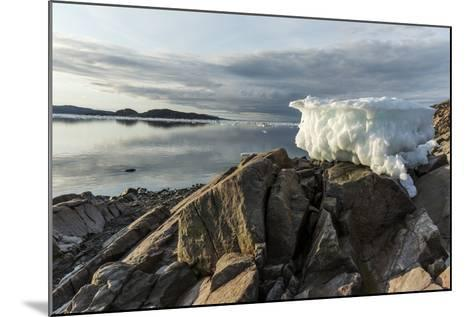 Canada, Nunavut, Iceberg Stranded by Low Tide Along Frozen Channel-Paul Souders-Mounted Photographic Print