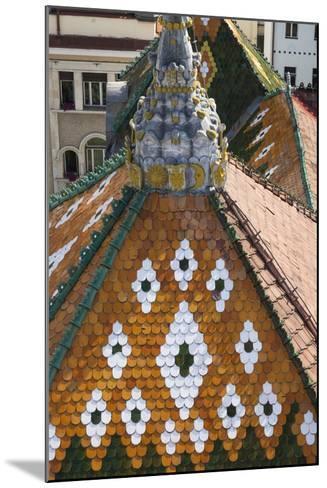 Romania, Transylvania, Targu Mures, the County Council Building Roof-Walter Bibikow-Mounted Photographic Print