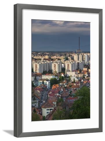 Romania, Transylvania, Brasov, City and Cet Brasov Energy Plant-Walter Bibikow-Framed Art Print