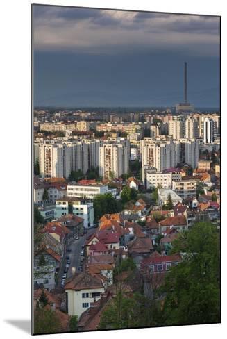 Romania, Transylvania, Brasov, City and Cet Brasov Energy Plant-Walter Bibikow-Mounted Photographic Print