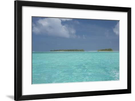 Cook Islands, Aitutaki, Honeymoon Island. Motu Surrounded by Lagoon-Cindy Miller Hopkins-Framed Art Print