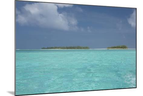 Cook Islands, Aitutaki, Honeymoon Island. Motu Surrounded by Lagoon-Cindy Miller Hopkins-Mounted Photographic Print
