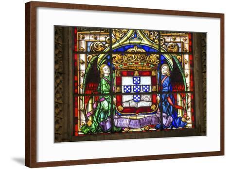 Stained Glass Window, Jeronimos Monastery, Lisbon, Portugal-Jim Engelbrecht-Framed Art Print